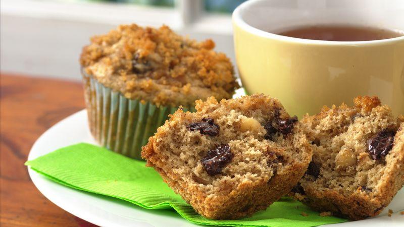 Muffins pralinés aux bananes et pépites de chocolat