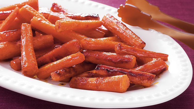 Roasted Candied Carrots Recipe Bettycrocker Com