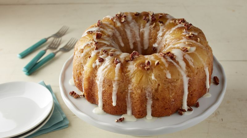 Hummingbird Upside-Down Poke Bundt Cake