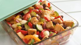 Grilled Bell Pepper Panzanella Salad