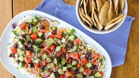 Chopped Hummus Dip with Za'atar