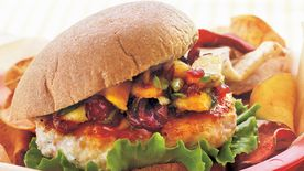 Turkey Burgers with Chutney