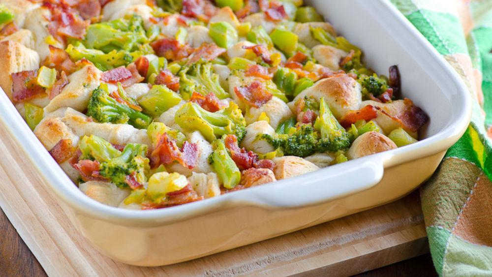 Bacon-Broccoli-Cheese Bubble-Up Bake