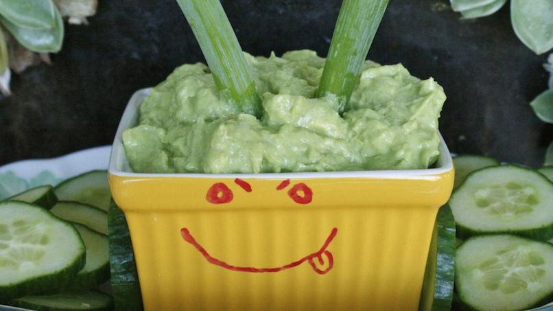 Green Onion and Yogurt Guacamole