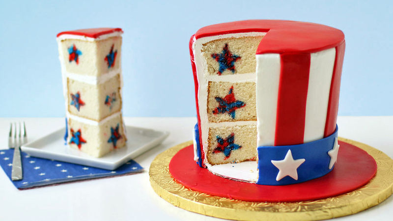 Uncle Sam Reveal Cake Recipe Tablespoon Com