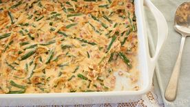 Ham and Cheese Green Bean Casserole