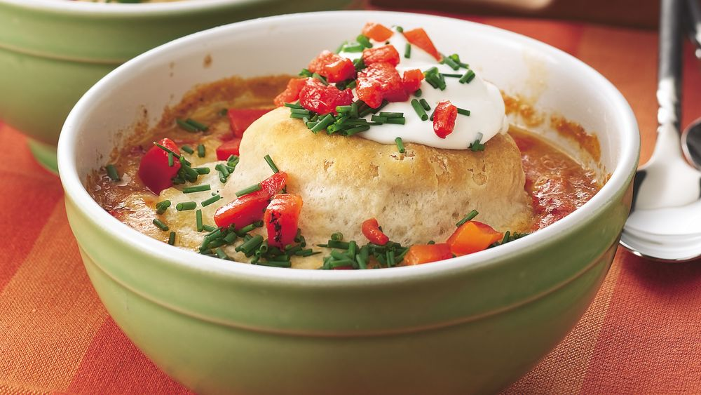 Southwestern Chicken-Biscuit Pot Pie