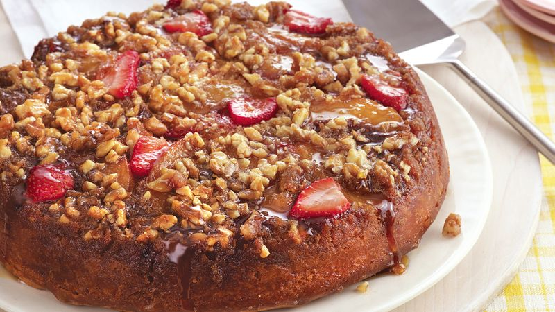 Peach Berry Upside Down Cake