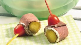 Roast Beef-Wrapped Pickles