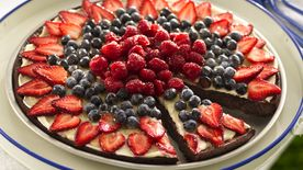 Brownie and Berries Dessert Pizza