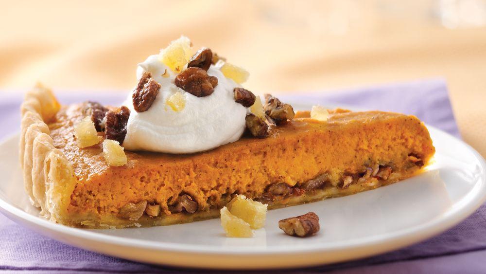 Ginger-Praline Pumpkin Tart