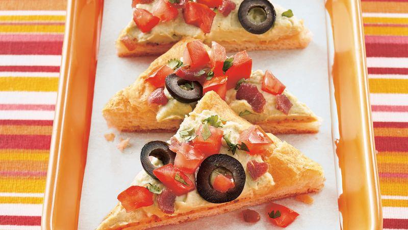 Guacamole Appetizer Triangles