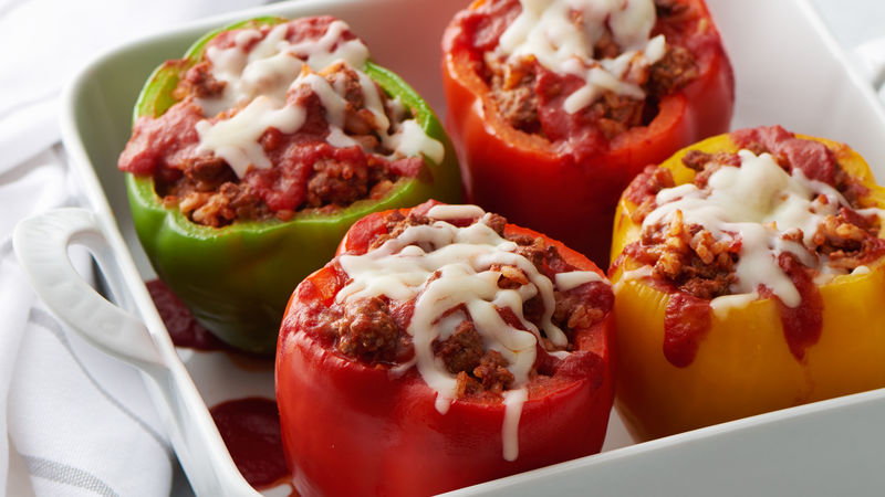 photo about Dish Top 120 Plus Printable Channel List named Filled Peppers
