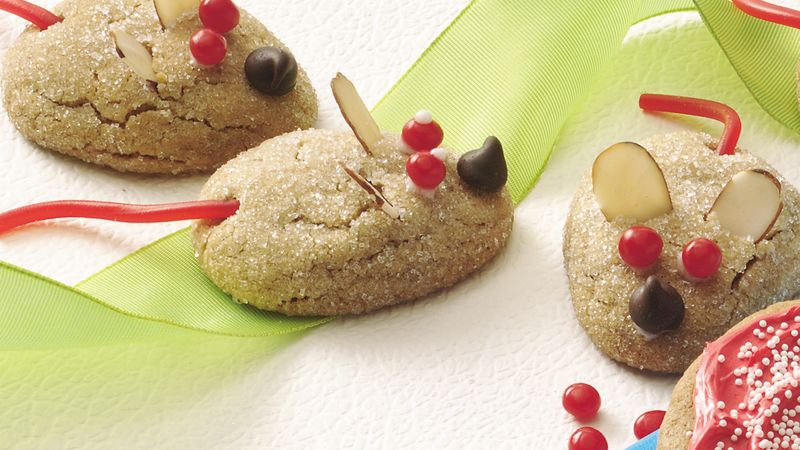 Peanut Butter Mice Cookies