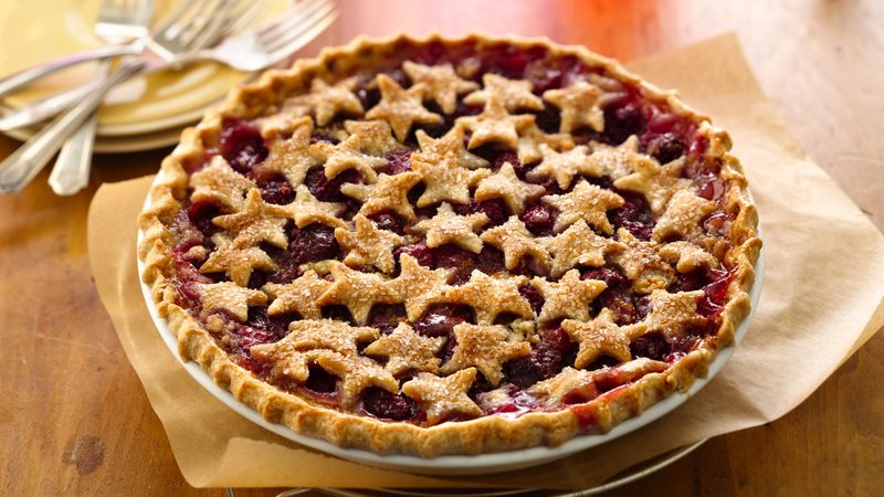 Starstruck Raspberry-Almond Pie