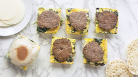 Freezer-Friendly Quiche and Sausage Breakfast Sandwiches