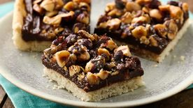 Candied Hazelnut Truffle Bars