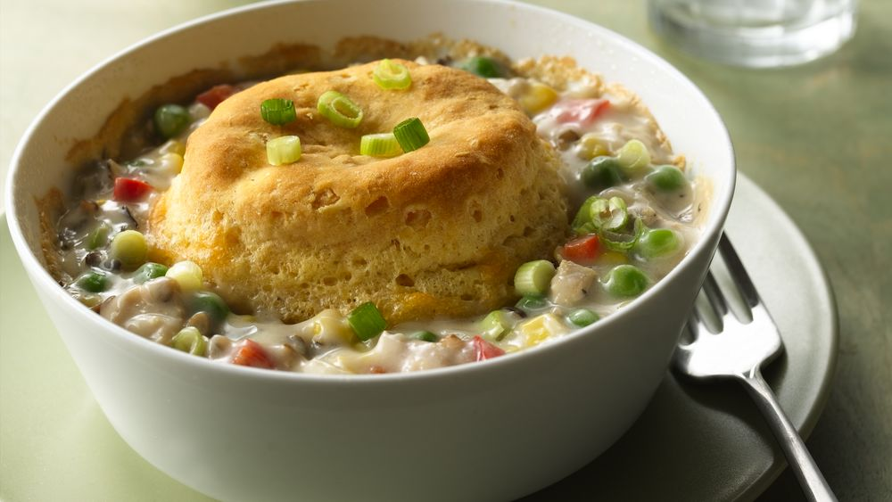 Biscuit-Topped Turkey Pot Pies
