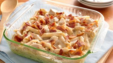 Chicken-Bacon Alfredo Penne Casserole