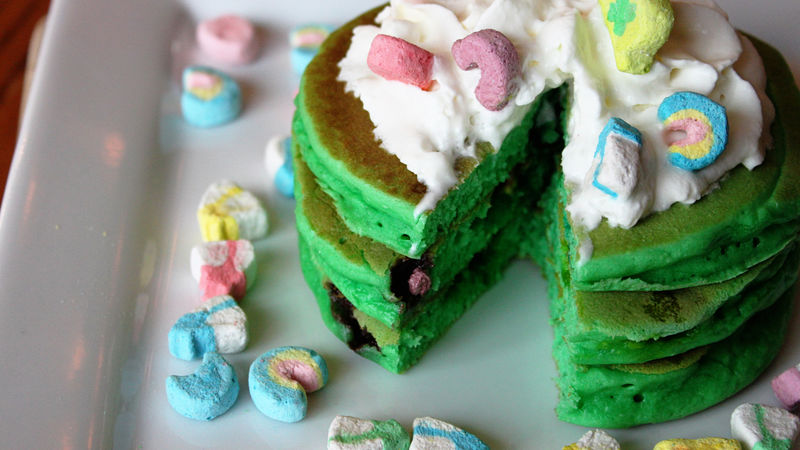 Top o' the Mornin Lucky Charms Pancakes