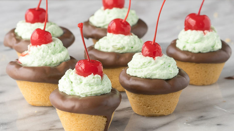Spumoni Cookie Cups