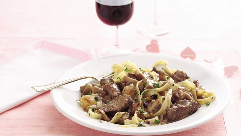 Red Wine Beef and Mushrooms