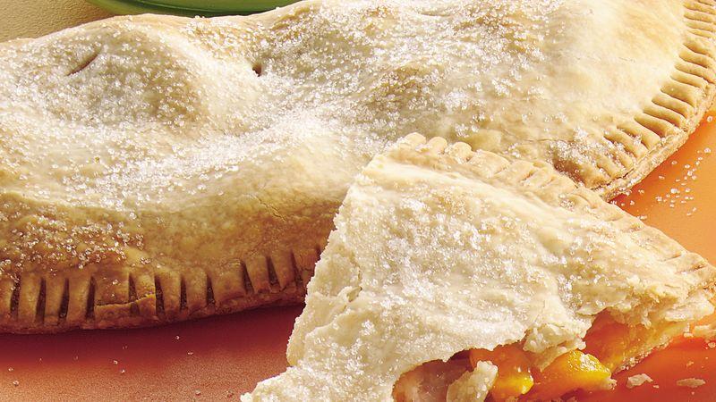 Easy As Peach Pie Wedges Recipe Pillsbury Com