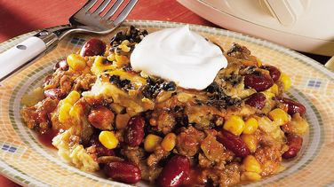 Slow-Cooked Taco Casserole