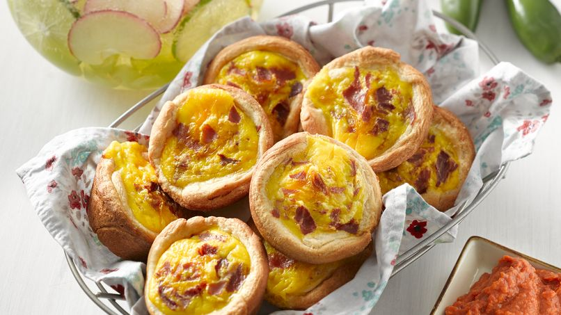 Egg and Serrano Ham Breakfast Cups with Red Salsa