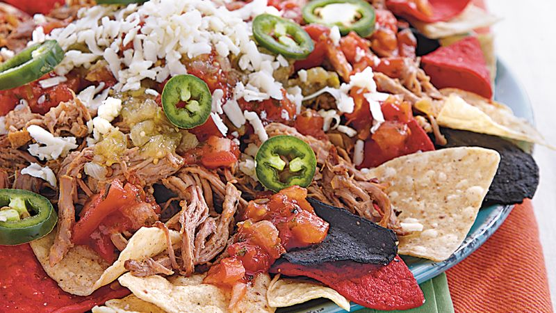 Slow-Cooker Pork Carnitas Nachos