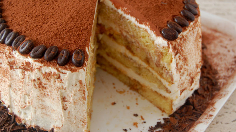 Tiramisu Cake Recipe BettyCrockercom