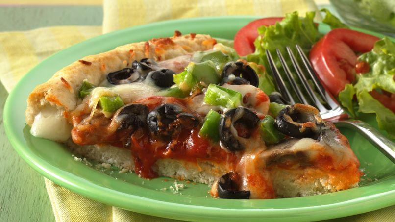 Corteza de Pizza rellena con Queso y Pepperoni