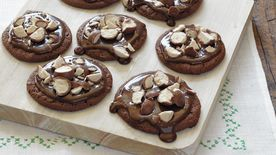Chocolate-Glazed Malt Cookies