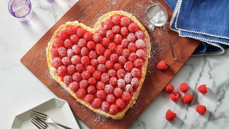 Raspberry Cream Heart