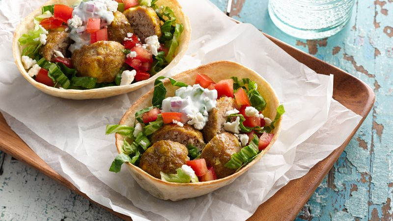 Turkey Meatball Shawarma Boats