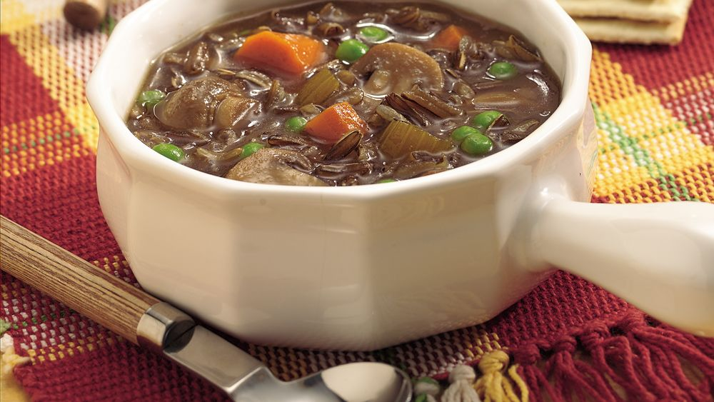 Slow-Cooker Wild Rice and Mushroom Soup