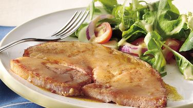 Easy Glazed Ham Steak
