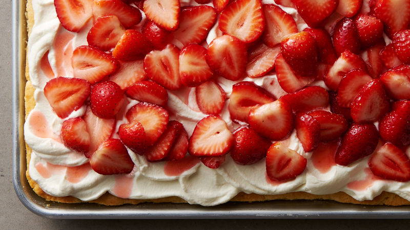 Slab Strawberry Shortcake