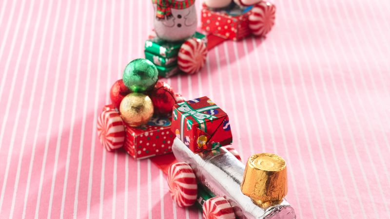 Christmas Candy Train.Holiday Candy Trains