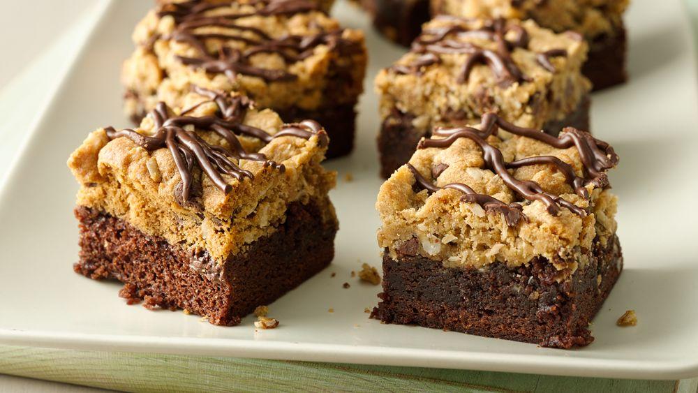 Chocolate-Oatmeal Brookie Bars