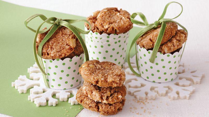 Gingerbread Hazelnut Cookies