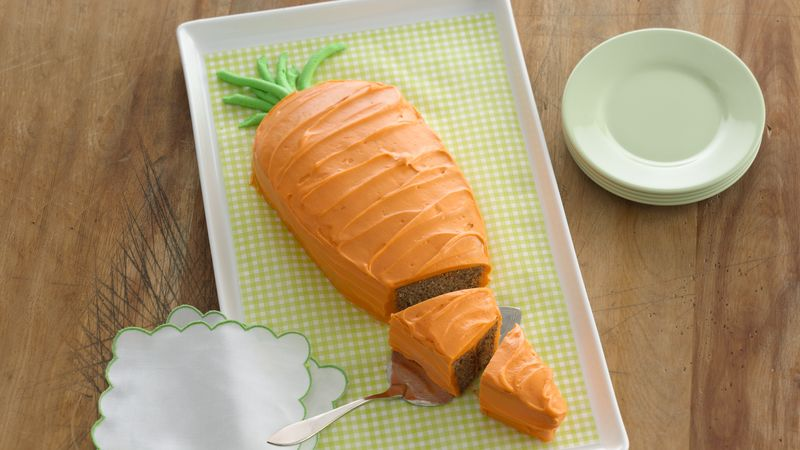 Carrot-Shaped Carrot Cake