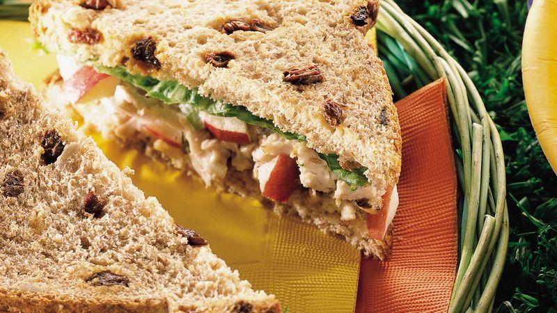 Waldorf Chicken Salad On Raisin Bread