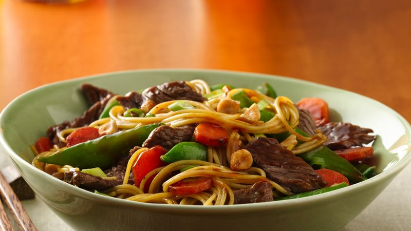 Asian beef noodle bowls recipe bettycrocker asian beef noodle bowls forumfinder Choice Image