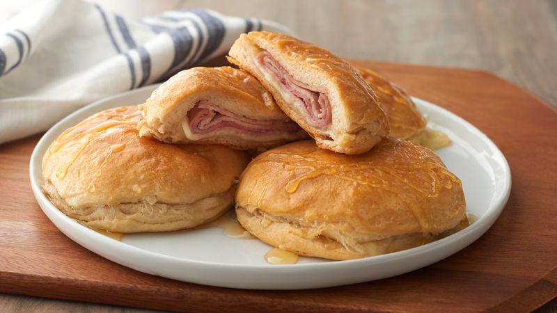 Stuffed Honey Ham Biscuits Recipe Pillsbury Com