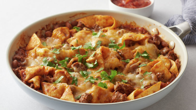 20-Minute Smothered Beef Burrito Skillet