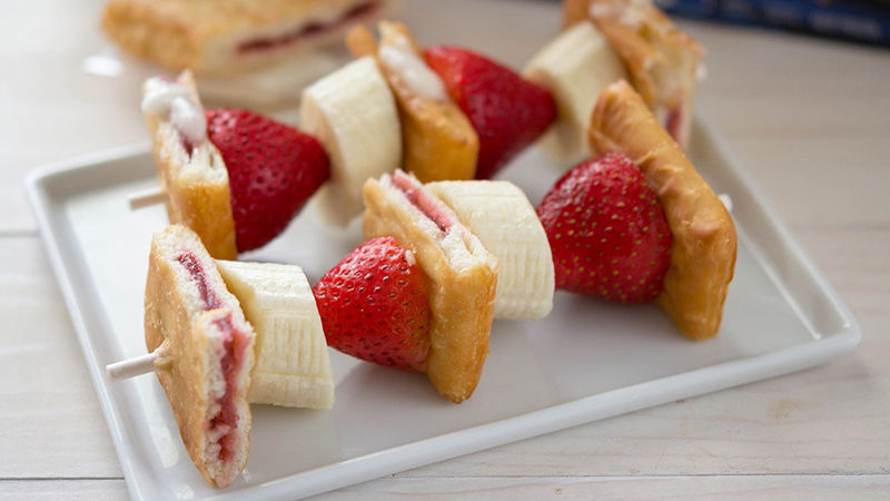 Fruit and Pastry Breakfast Kabobs