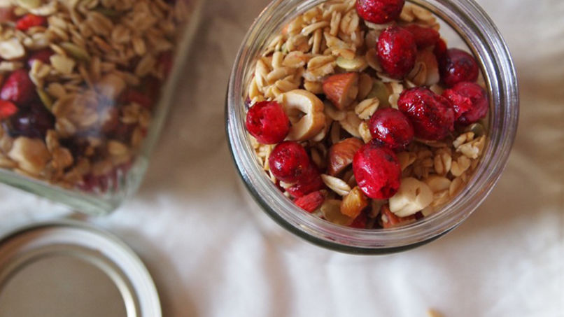 Cranberry and Date Granola