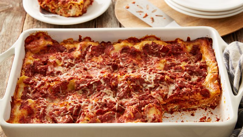 Easy meatless lasagna recipe bettycrocker easy meatless lasagna forumfinder Image collections
