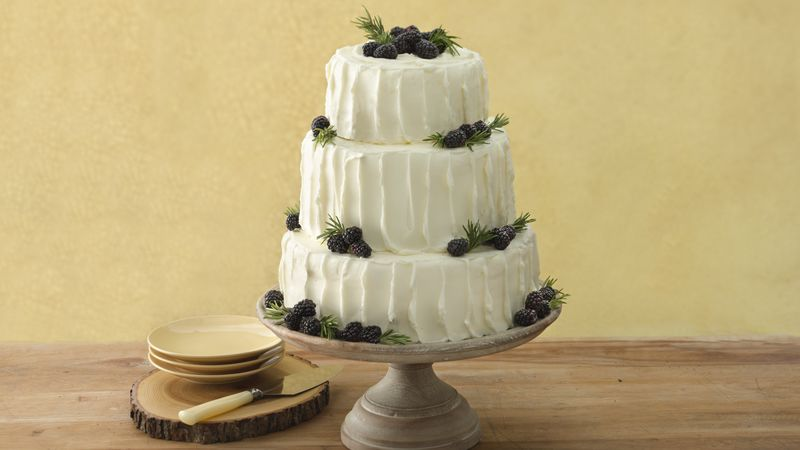 Blackberry-Vanilla Wedding Cake Recipe - BettyCrocker.com